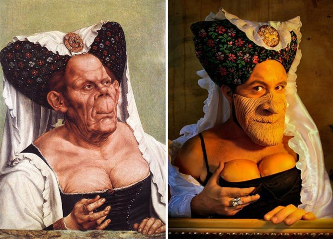 modern photo remakes famous paintings 9