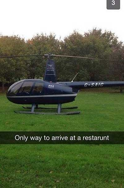 rich kids snapchat helicopter