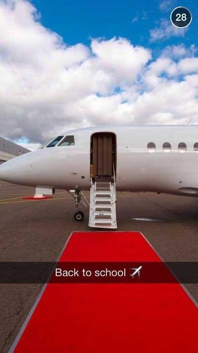 rich kids snapchat school