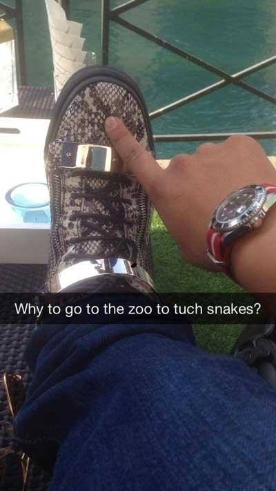 rich kids snapchat snakes