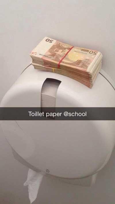 rich kids snapchat toilet