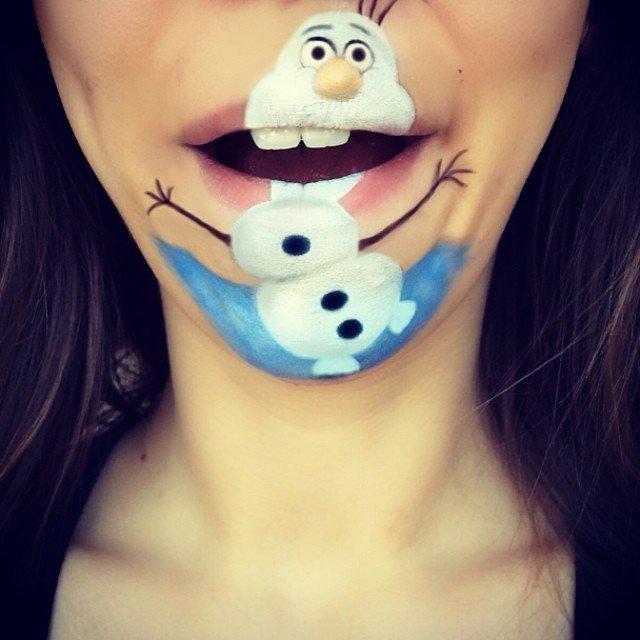 trucco personaggio cartone animato bocca 2