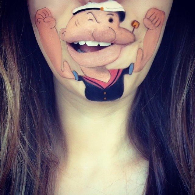 trucco personaggio cartone animato bocca 4