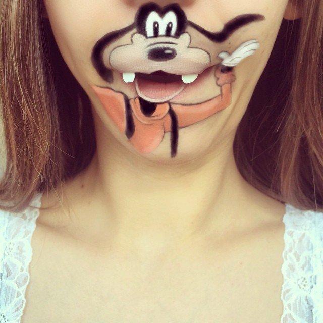trucco personaggio cartone animato bocca 5