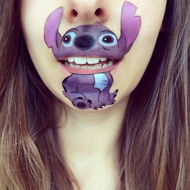trucco personaggio cartone animato bocca 6