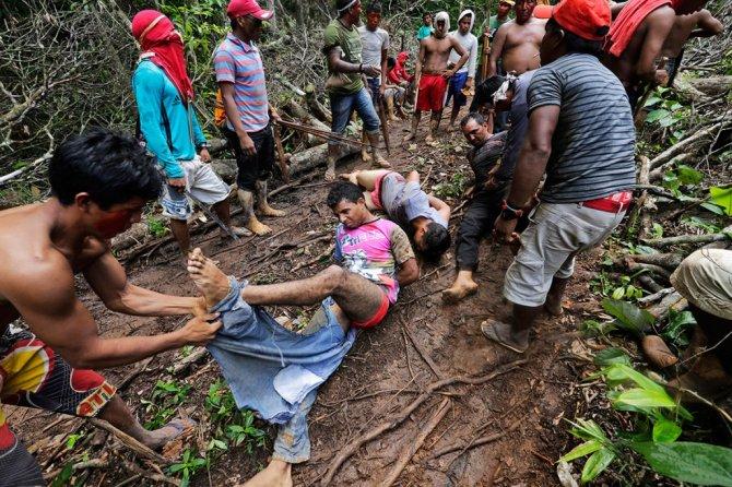 amazzonia tribu attacca taglialegna alberi 6