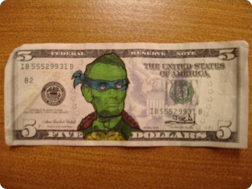 banconote modificate disegni dollari supereroi 45