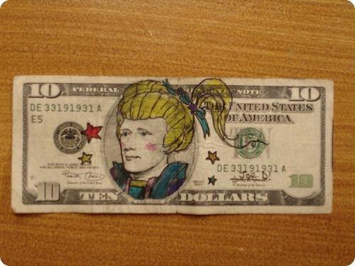 banconote modificate disegni dollari supereroi 44