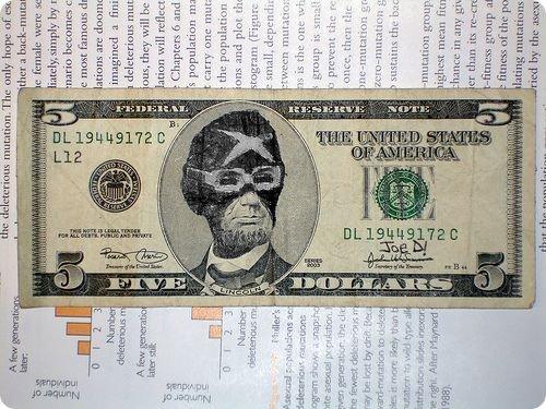 banconote modificate disegni dollari supereroi 43