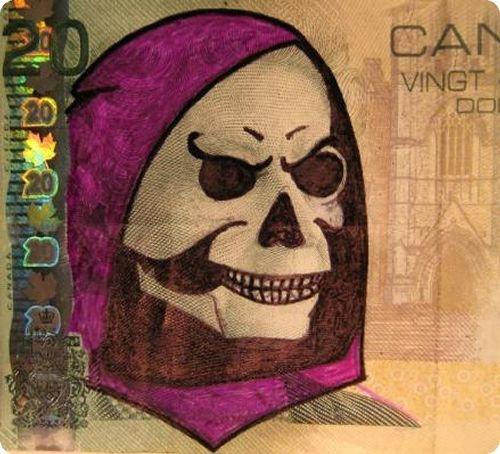 banconote modificate disegni dollari supereroi 12