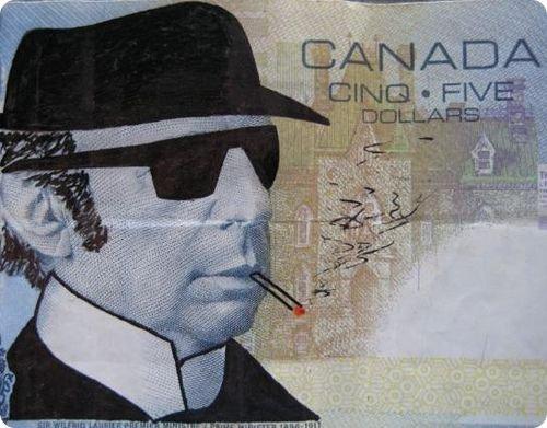 banconote modificate disegni dollari supereroi 11