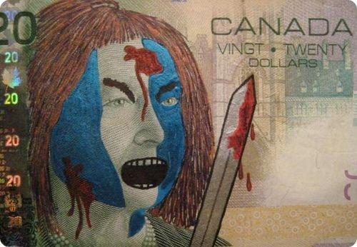 banconote modificate disegni dollari supereroi 10