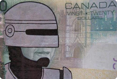 banconote modificate disegni dollari supereroi 8