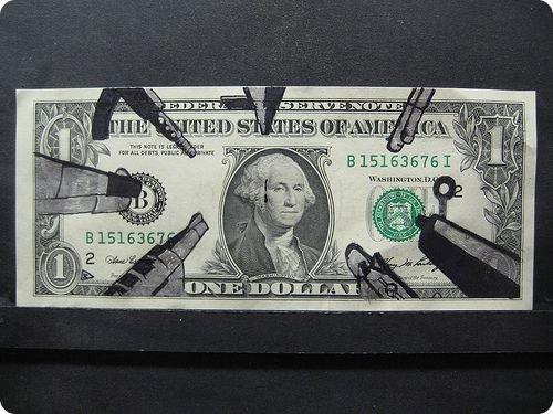 banconote modificate disegni dollari supereroi 3