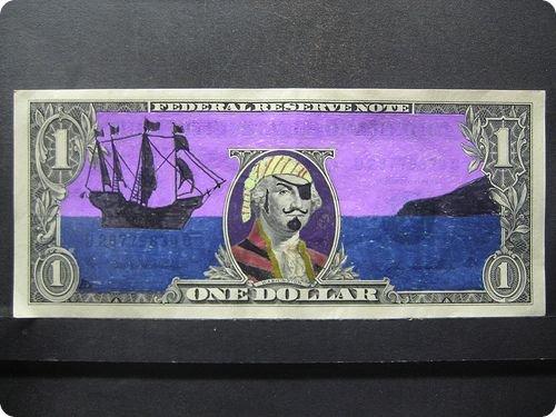 banconote modificate disegni dollari supereroi 38