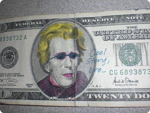 banconote modificate disegni dollari supereroi 35