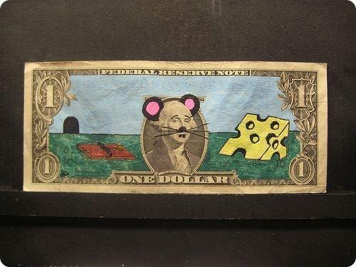 banconote modificate disegni dollari supereroi 34