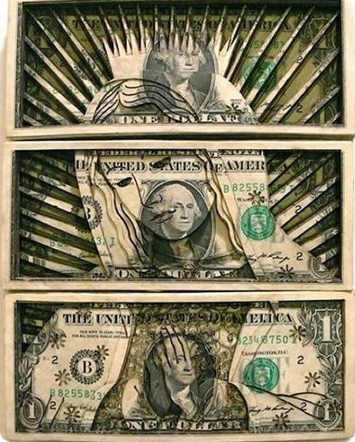 banconote modificate disegni dollari supereroi 50