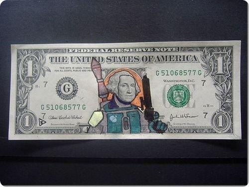 banconote modificate disegni dollari supereroi 32