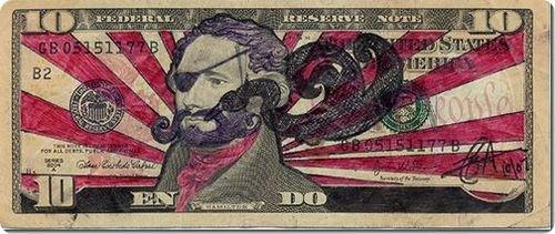 banconote modificate disegni dollari supereroi 27