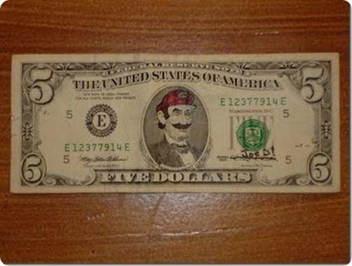 banconote modificate disegni dollari supereroi 49