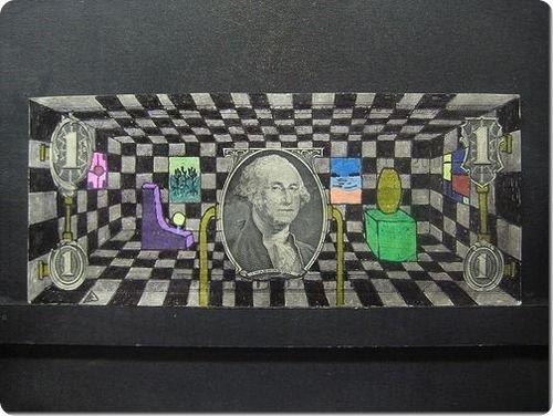 banconote modificate disegni dollari supereroi 20