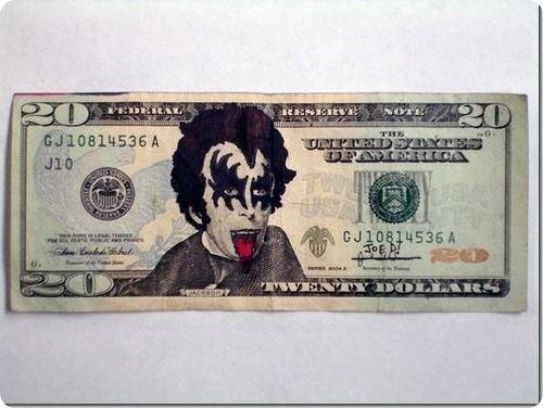banconote modificate disegni dollari supereroi 13