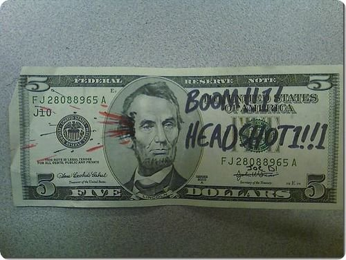 banconote modificate disegni dollari supereroi 1