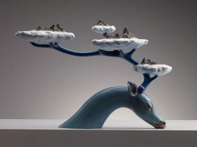 sculture surreali animali mondo spalle schiena 9