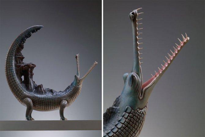 sculture surreali animali mondo spalle schiena 10