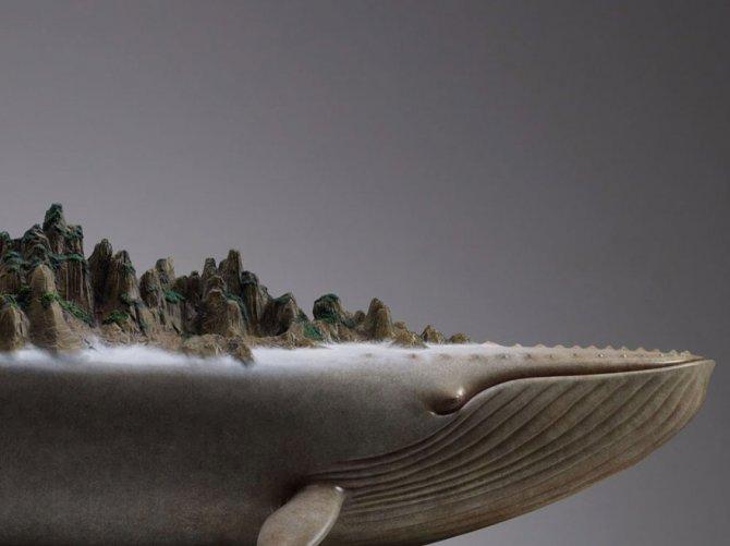sculture surreali animali mondo spalle schiena 2