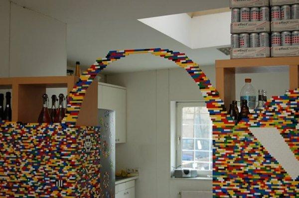 parete ufficio mattoncini lego 3