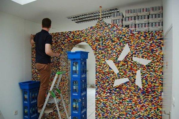 parete ufficio mattoncini lego 5