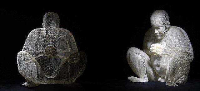 scultura carta invisibile 12