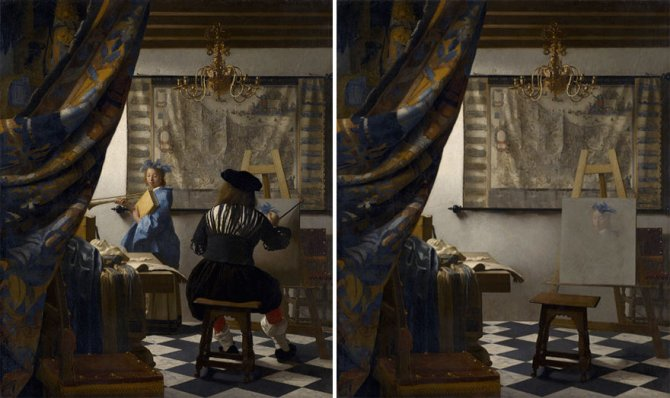 Spanish Artist Classical paintings Characters removed Hidden Spaces Jose Ballester 9