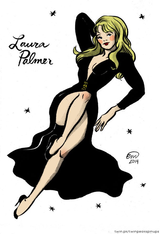 laura palmer twin peaks pinup