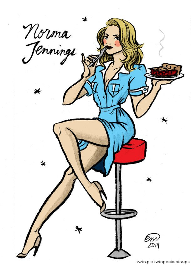 norma jennings twin peaks pinup