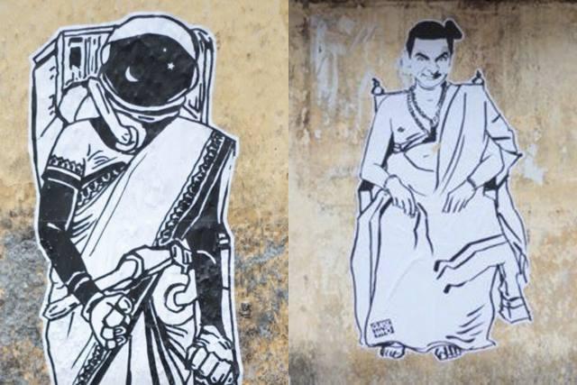 Il Banksy asiatico che sta invadendo le città dell'India