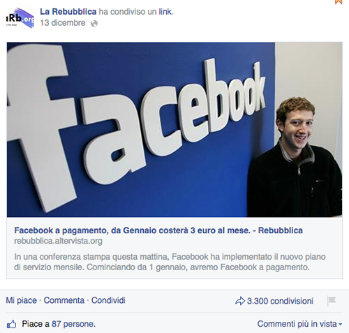 bufala finto sito repubblica facebook