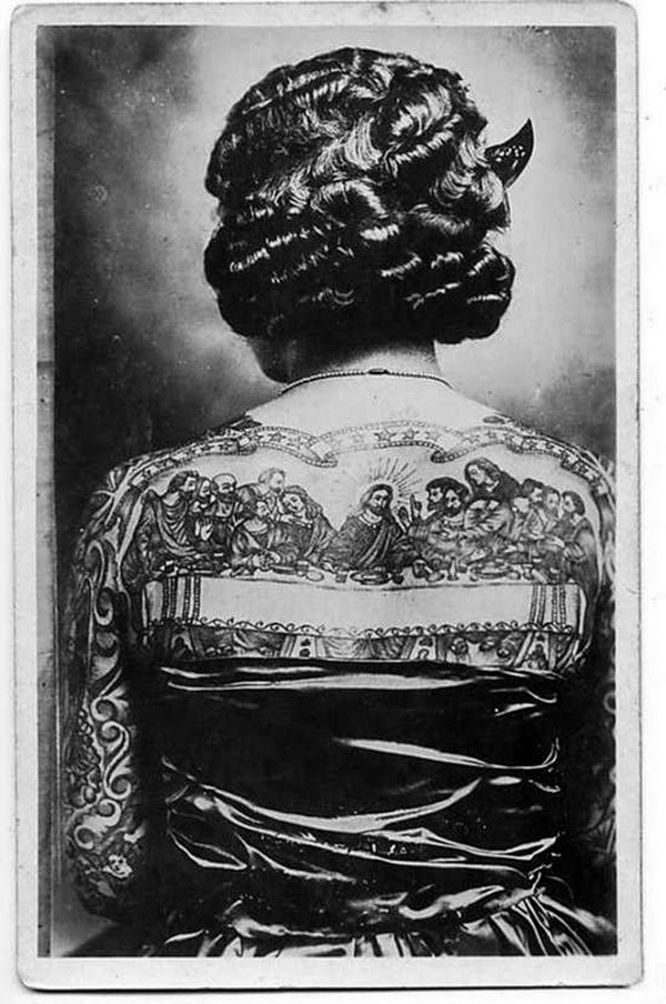 Vintage Women with Full Body Tattoos (2)