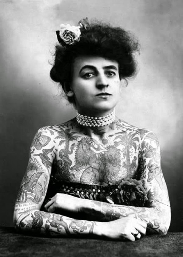 Vintage Women with Full Body Tattoos (4)