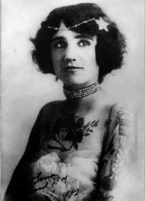 Vintage Women with Full Body Tattoos (5)