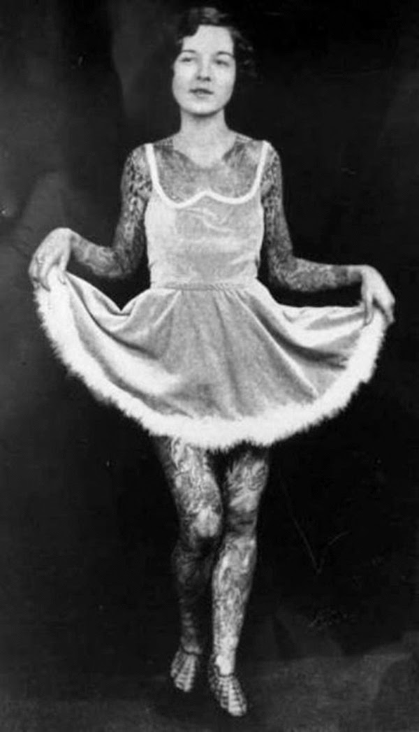 Vintage Women with Full Body Tattoos (8)