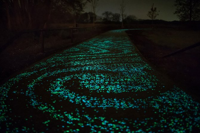 van gogh starry night glowing bike path daan roosengaarde 7