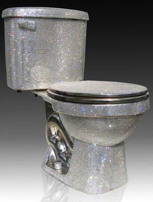 14 swarovky covered toilet