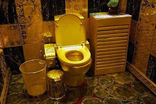 6 gold toilet