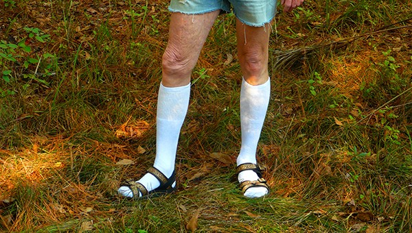 Hiking_in_Knee_Socks,_Sandals,_and_Cut-offs