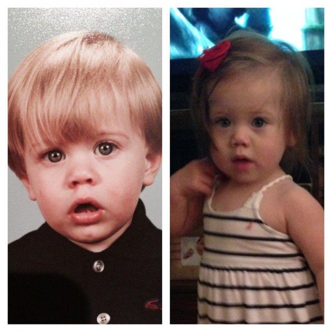 genitori figli identici 8