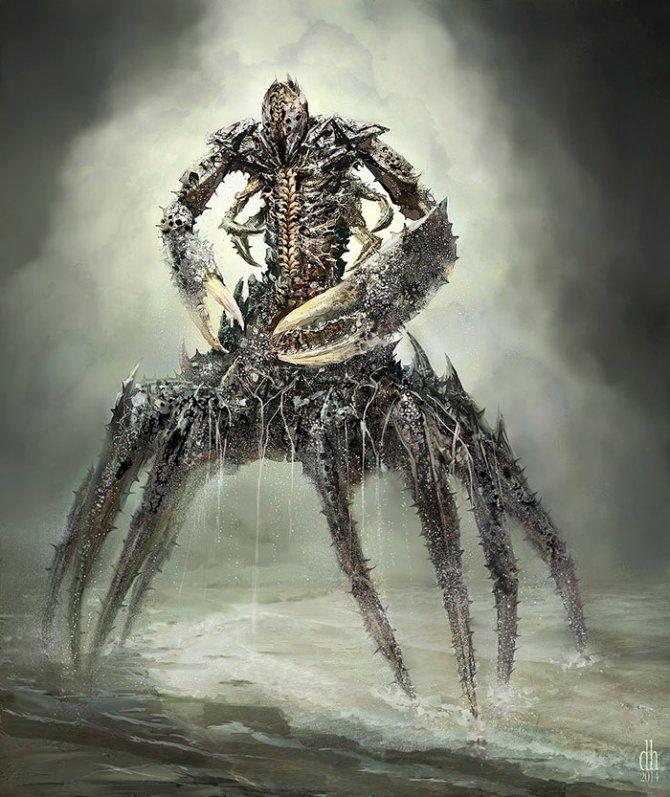 zodiac monsters fantasy digital art damon hellandbrand 4