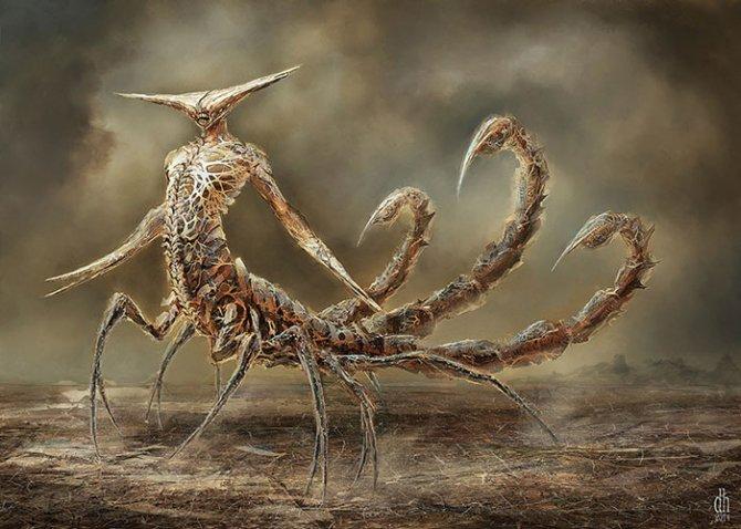 zodiac monsters fantasy digital art damon hellandbrand 8